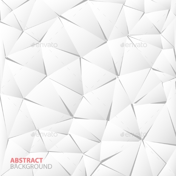 GraphicRiver Abstract White Paper Triangle Background 9061044