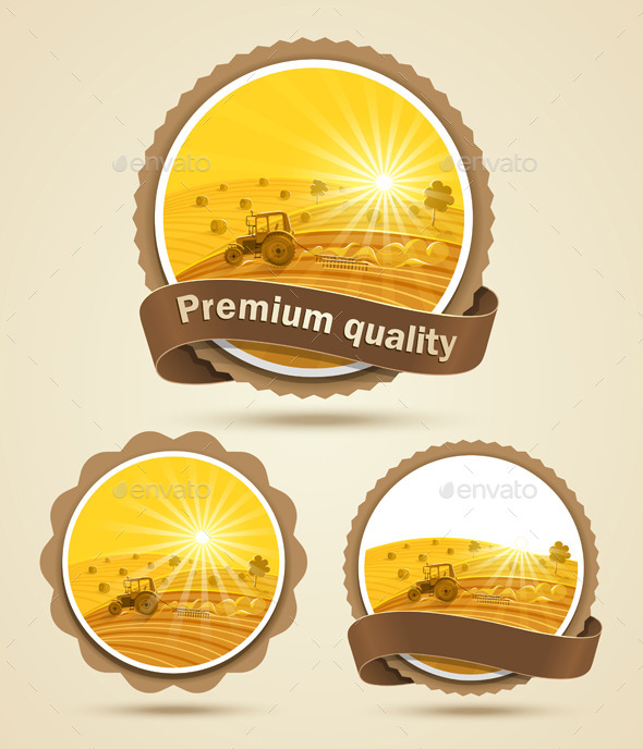 GraphicRiver Cereal Harvest Label 9061093