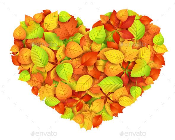 GraphicRiver Autumn Heart 9061096