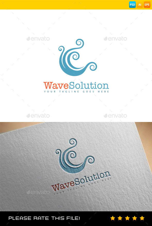 GraphicRiver Wave Logo 9061330