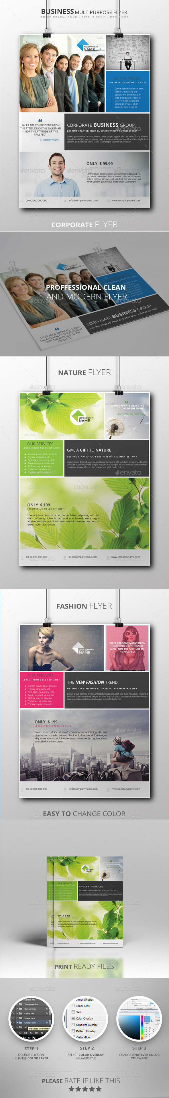 GraphicRiver Business Multipurpose Flyer 8892033