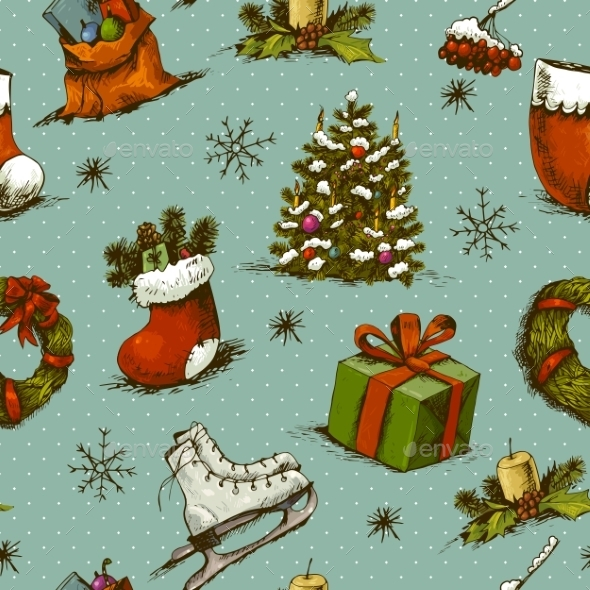 GraphicRiver Christmas Seamless Background 9062238