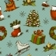 Christmas Seamless Background - GraphicRiver Item for Sale
