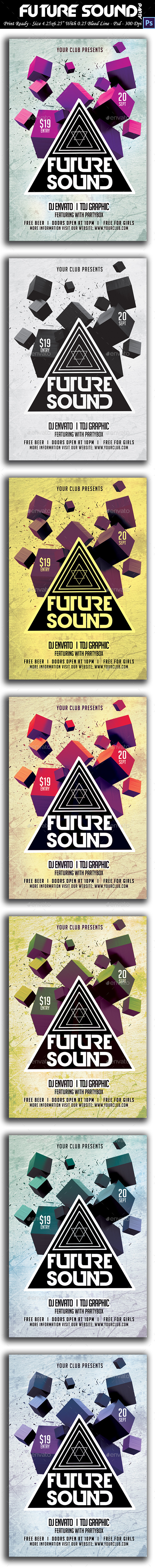 GraphicRiver Future Sound Flyer 9062252