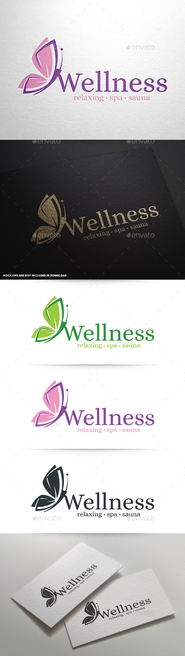 GraphicRiver Wellness Butterfly Logo 9062253