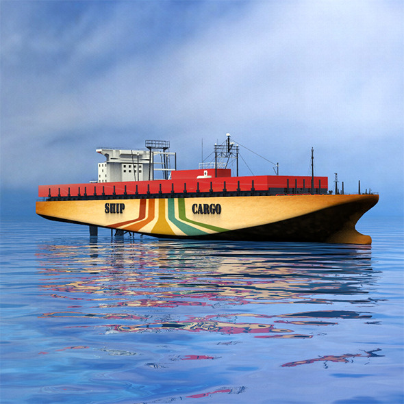 Cargo ship - 3DOcean Item for Sale