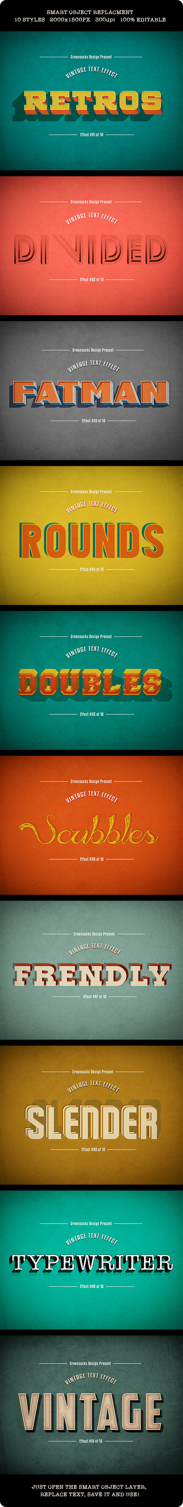 GraphicRiver Vintage Text Effects 9062394