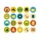 Flat Icon Set - GraphicRiver Item for Sale