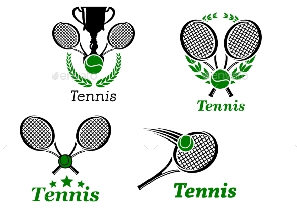 GraphicRiver Tennis Sport Emblems 9062466