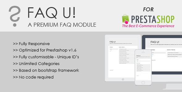 CodeCanyon FAQ U module for Prestashop 8987911