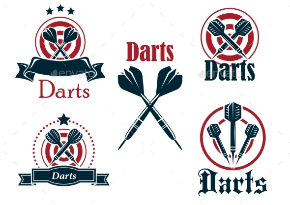 GraphicRiver Darts Icons Emblems or Symbols 9062480