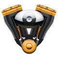retro motorcycle motor engine. - PhotoDune Item for Sale