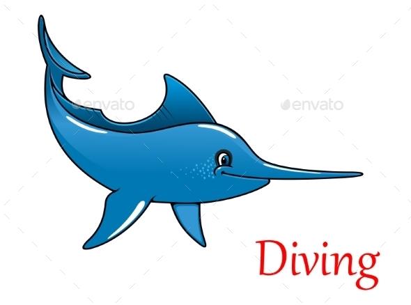 GraphicRiver Cartoon Swordfish Character 9062727