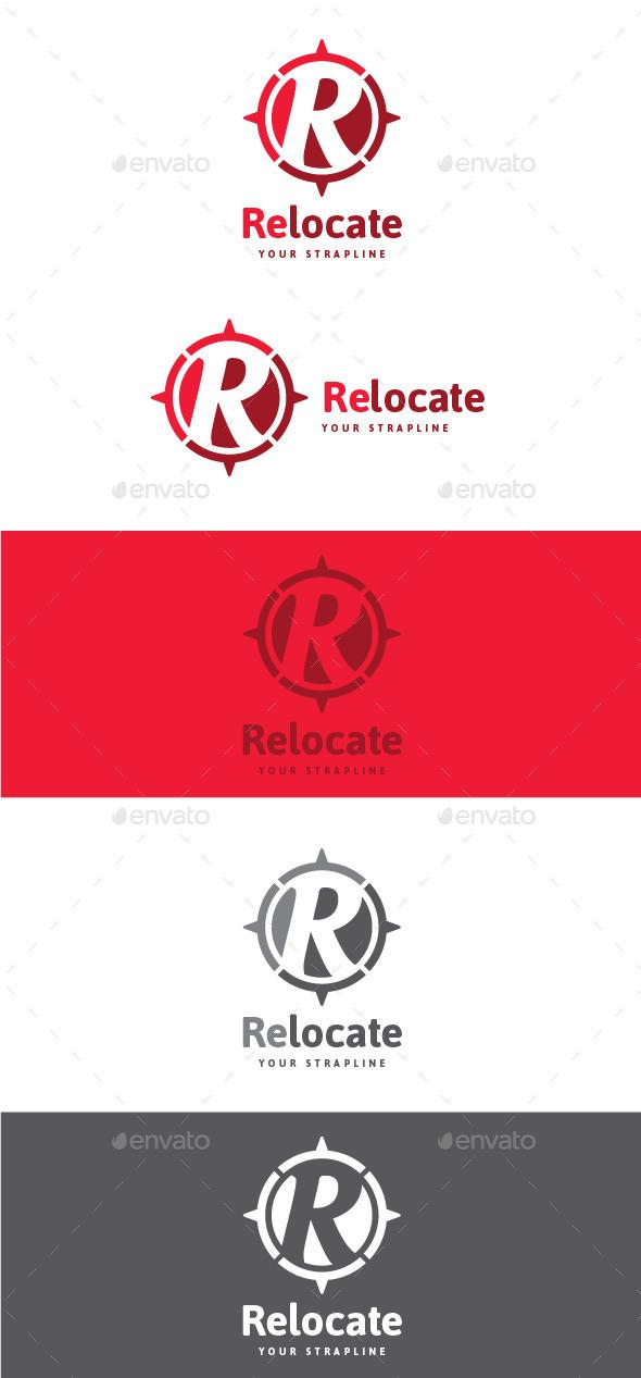 GraphicRiver Relocate Letter R Logo 9062731