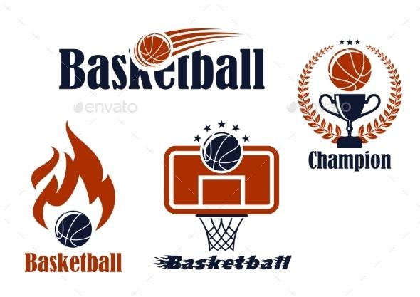 GraphicRiver Basketball Sport Team Emblems and Symbols 9062737