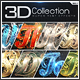 Super 3D Collection Text Effects GO.1 - GraphicRiver Item for Sale