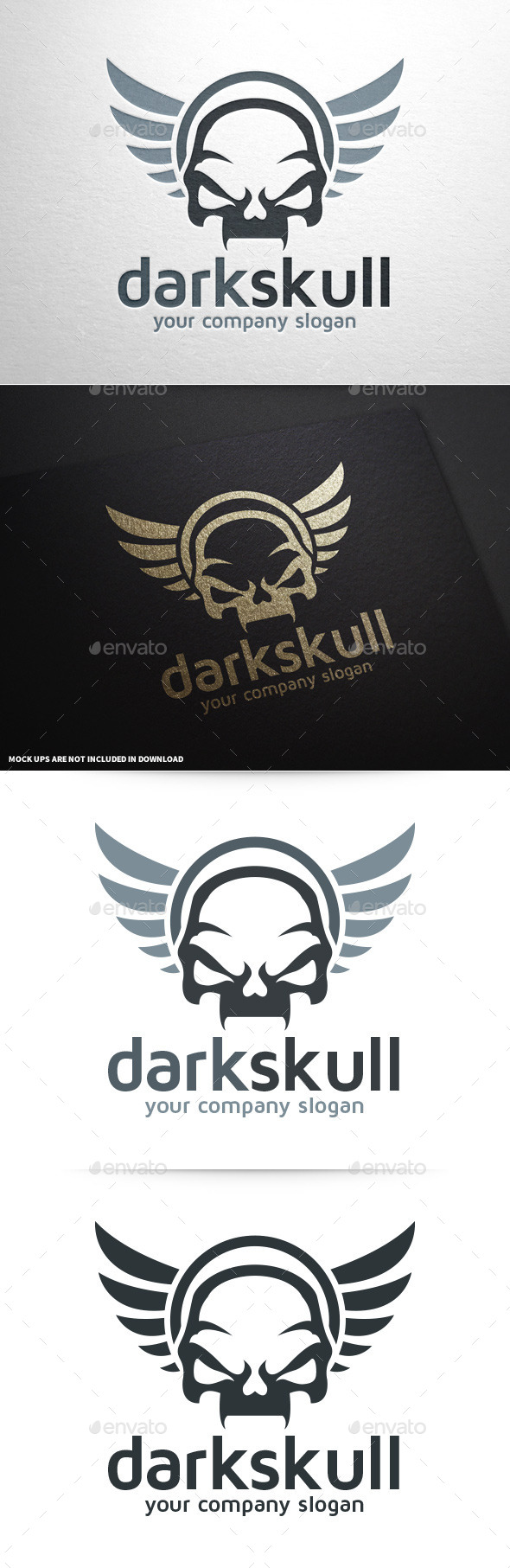 GraphicRiver Dark Skull Logo Template 9062892