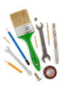 set of tools and instruments on white - PhotoDune Item for Sale
