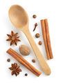 cinnamon sticks, anise star and nutmeg on white - PhotoDune Item for Sale