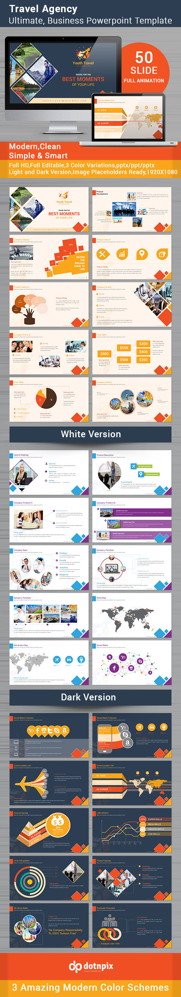 GraphicRiver Travel Agency Powerpoint Template 9063430