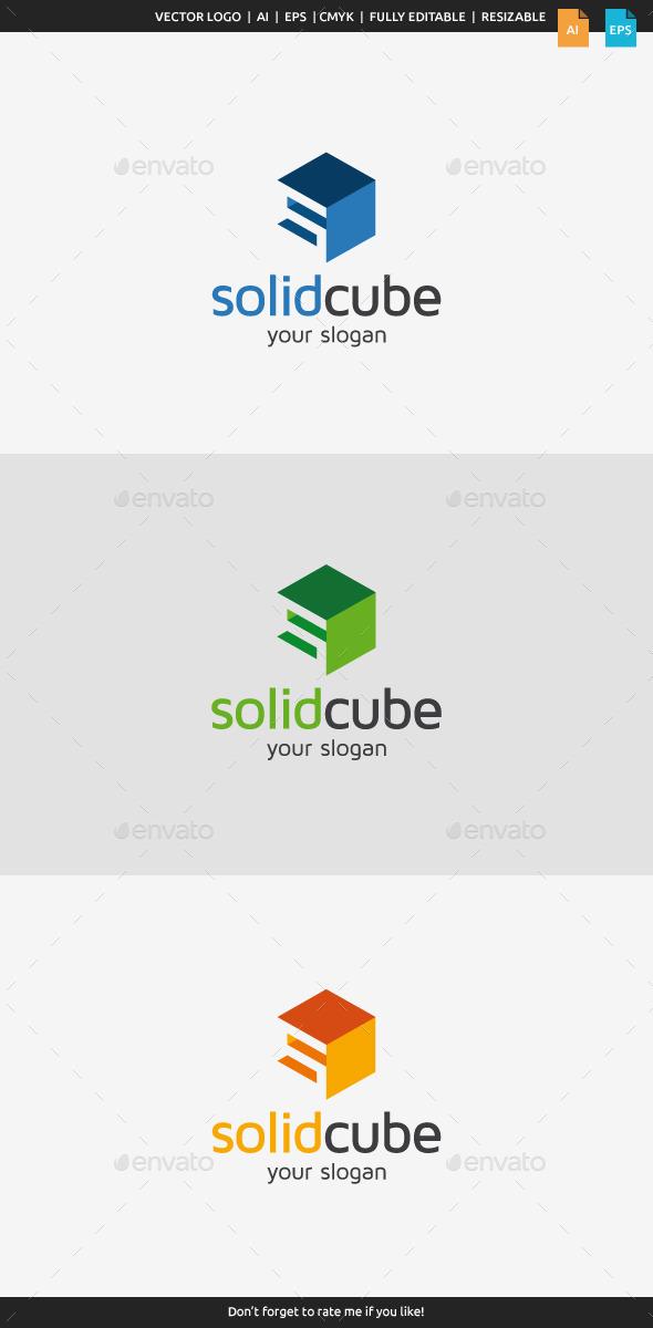 GraphicRiver Solid Cube Logo 9058945