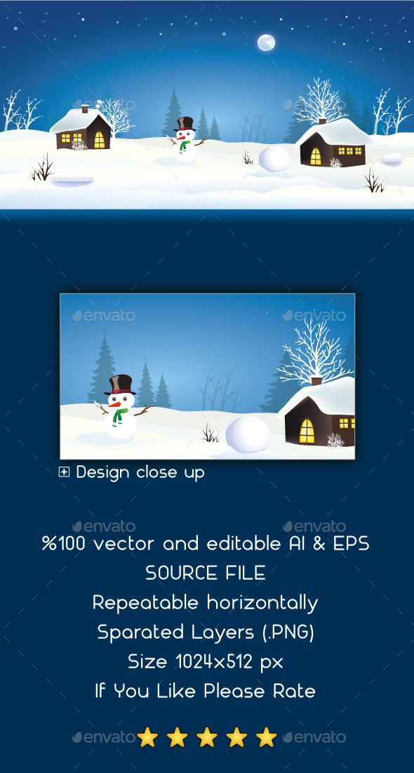 GraphicRiver Snow Game Background 9064154
