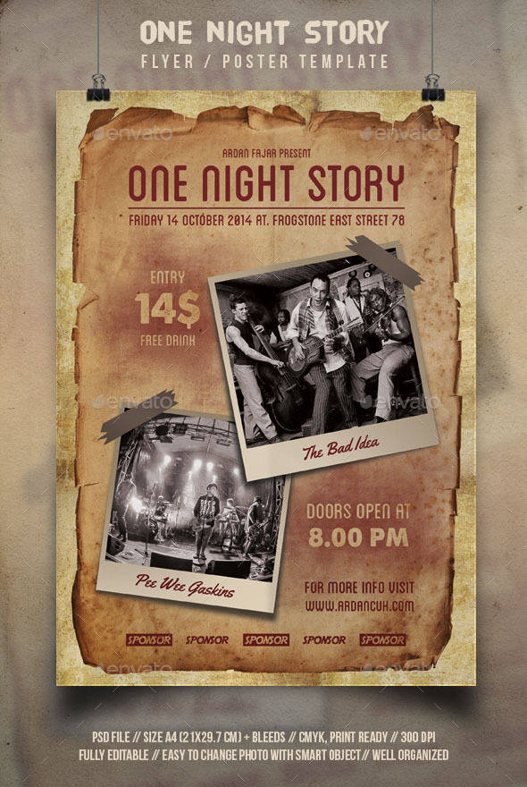 GraphicRiver One Night Story Flyer Template 9065179