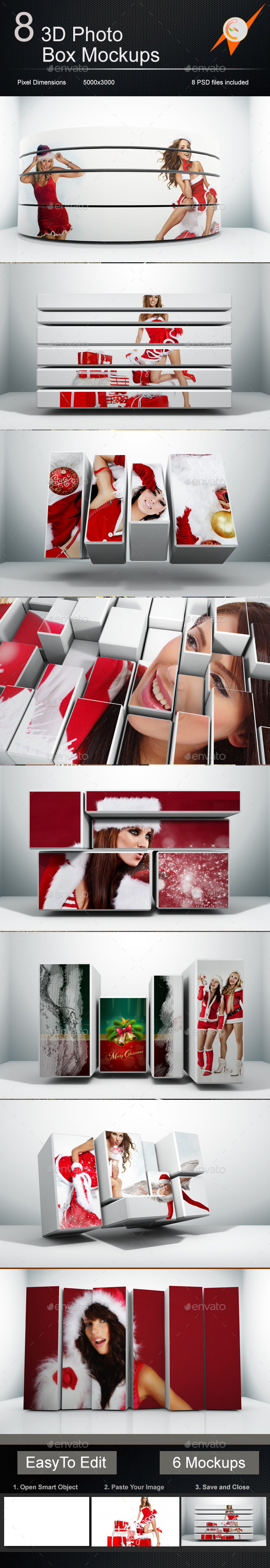 GraphicRiver 3D Photo Box Mockups 9065188