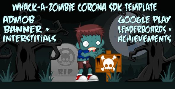 CodeCanyon Whack-A-Zombie Corona SDK Template 9065268