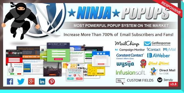 Ninja Popups for WordPress - CodeCanyon Item for Sale
