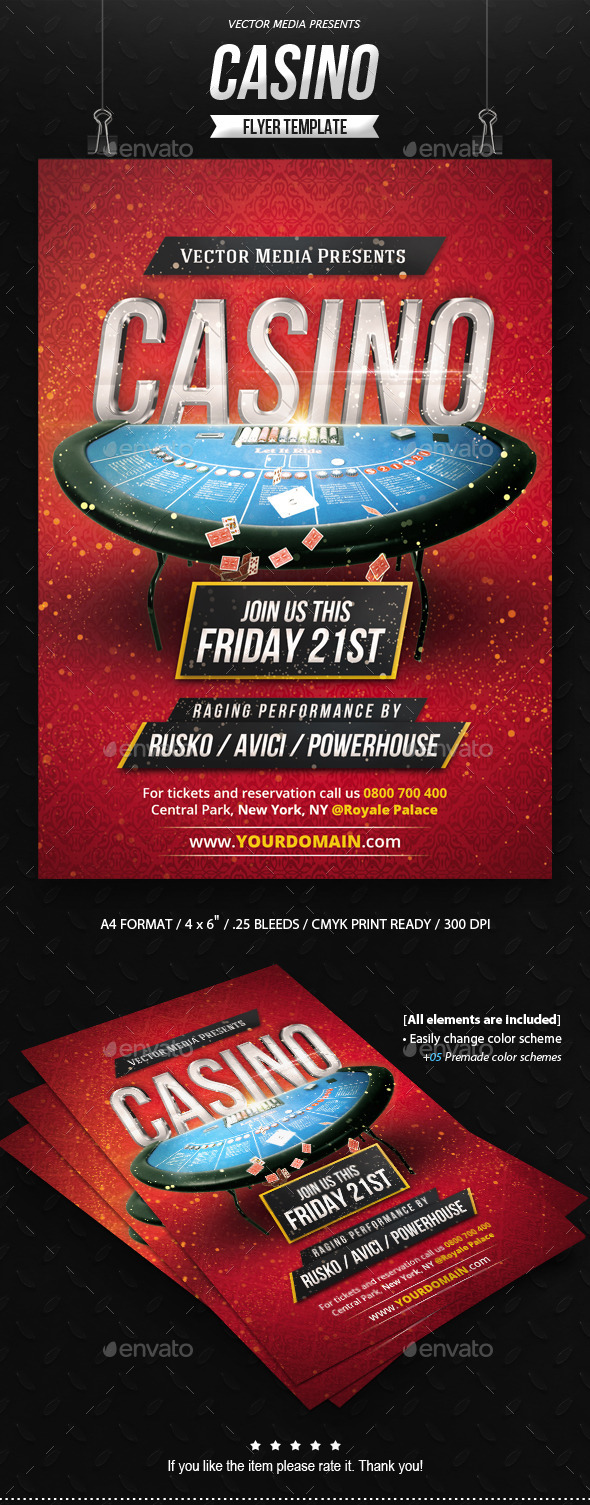 GraphicRiver Casino Flyer 9065269