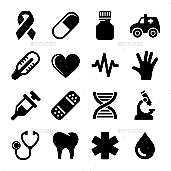 GraphicRiver Medical and Health Icons Set Vector 9065322
