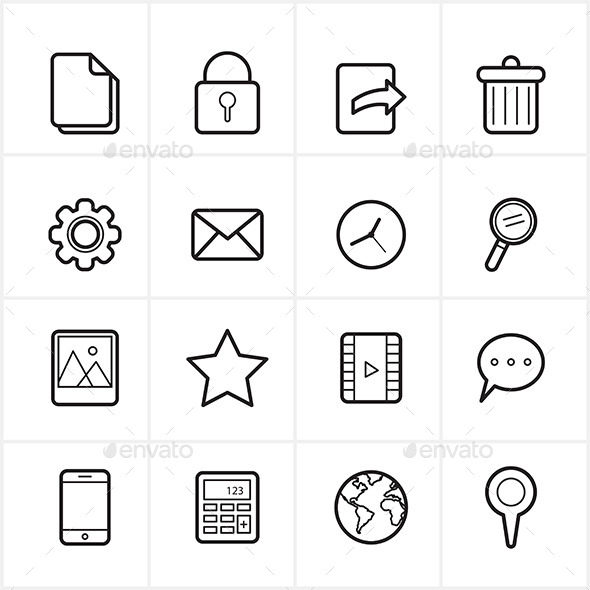 GraphicRiver Flat Line Icons Mobile Icons and Internet Web Icon 9065323