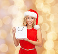 woman in santa helper hat with shopping bags - PhotoDune Item for Sale
