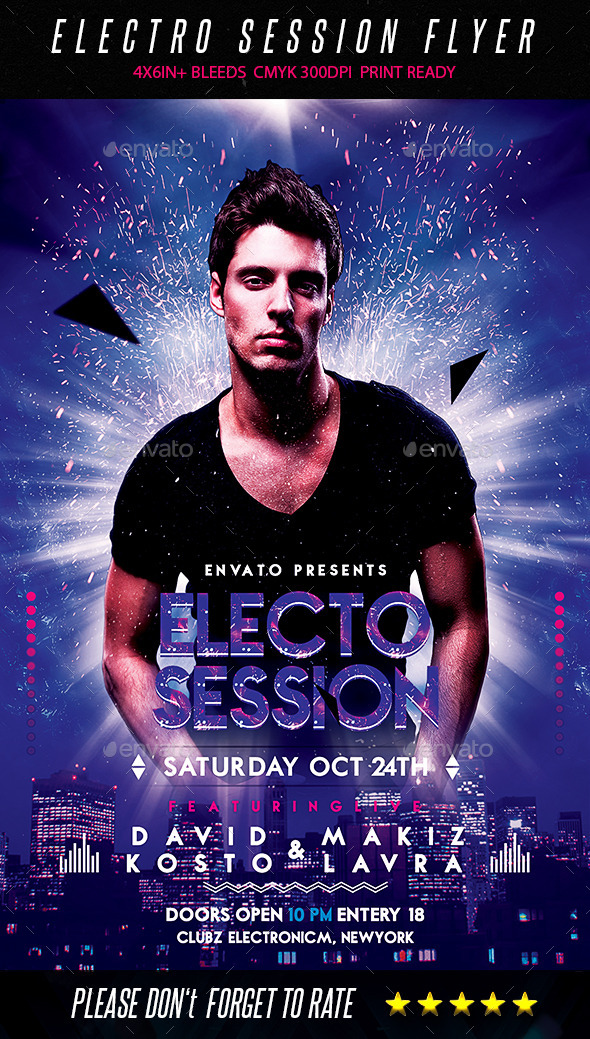 GraphicRiver Electro Session Flyer 9029931