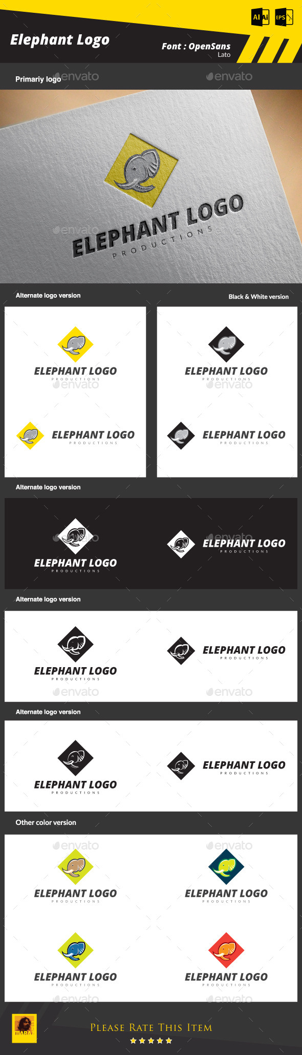 GraphicRiver Elephant Logo 8828867