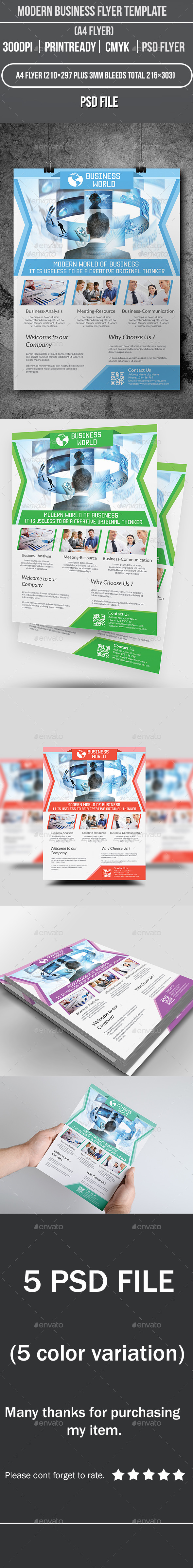 GraphicRiver Modern Business Flyer Template 9065783