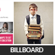 Kids School Education Billboard Template - GraphicRiver Item for Sale