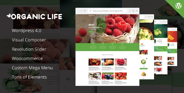 ThemeForest Organic Life Ecology & Environmental Theme 9066645