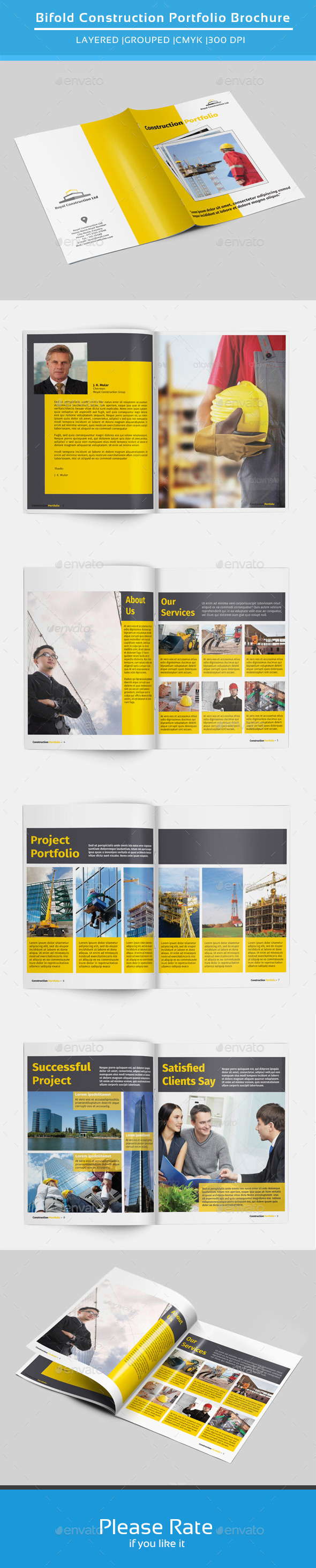 GraphicRiver Bifold Brochure for Construction-V141 9066691