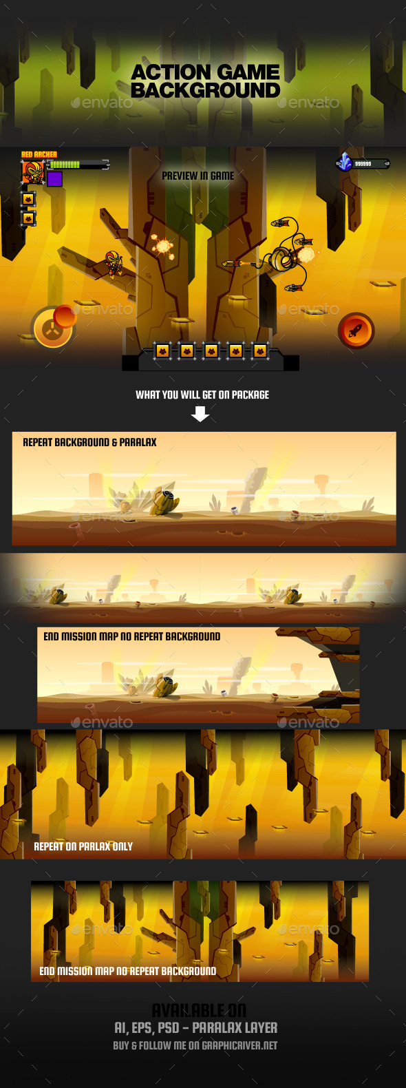 GraphicRiver Action Game Background 9066723