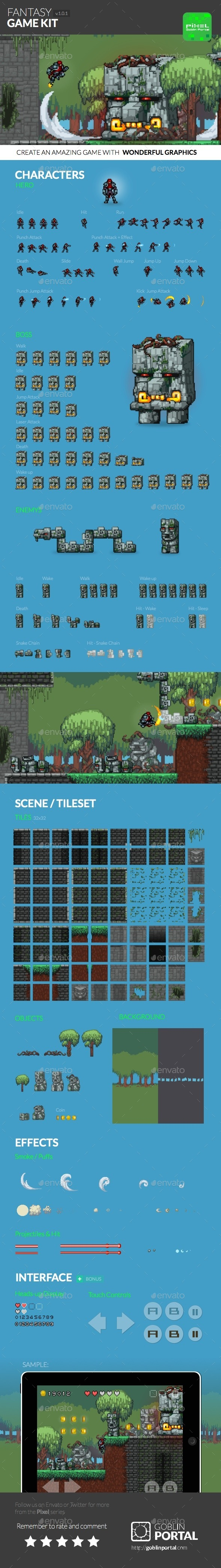 GraphicRiver Fantasy Sidescroller Game Kit 9066848