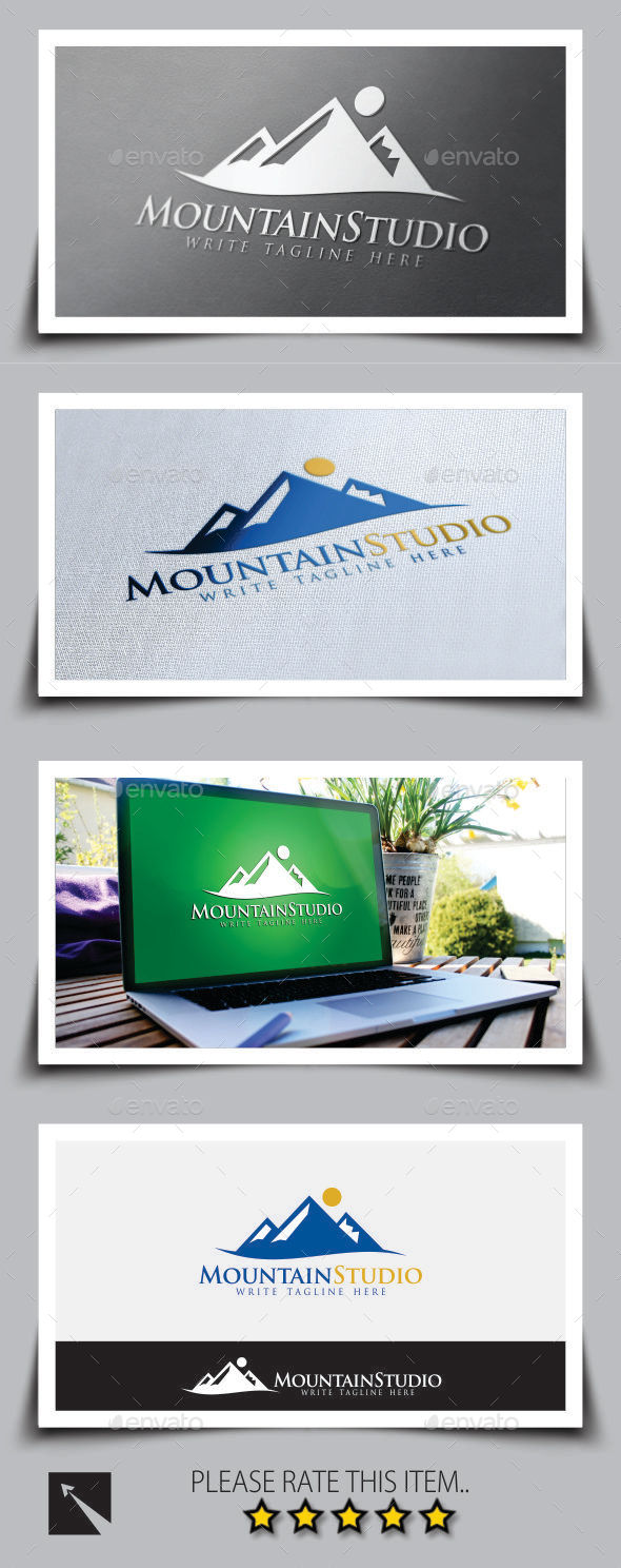 GraphicRiver Mountain Studio Logo Template 9067061
