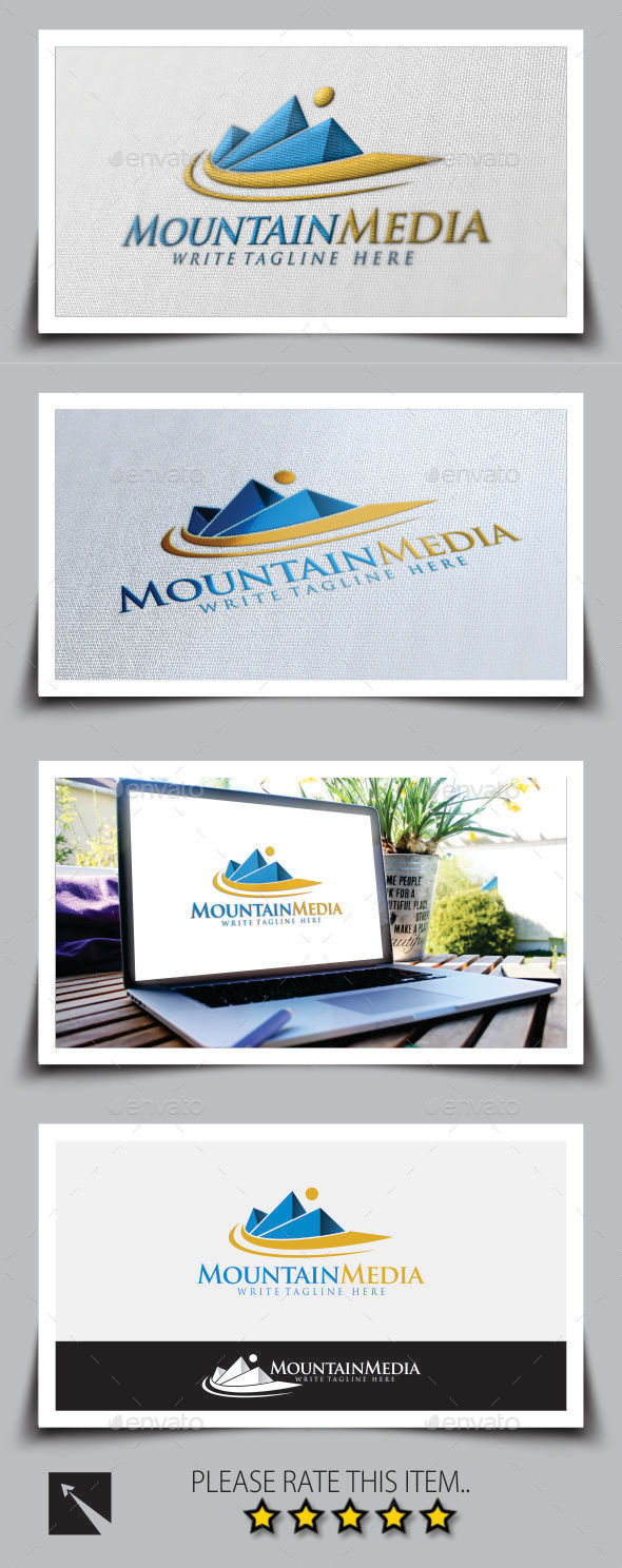 Mountain Media Logo Template
