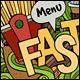 3 Fast Food Doodles Designs - GraphicRiver Item for Sale
