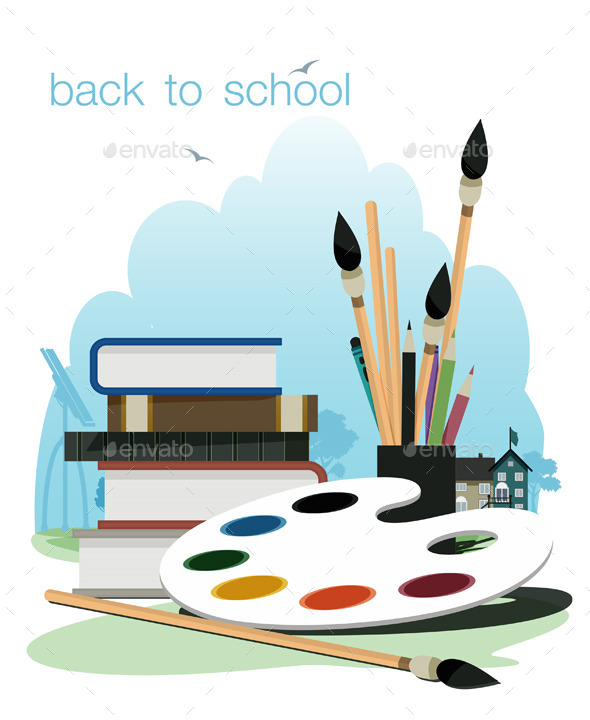 GraphicRiver Back to School 9067610