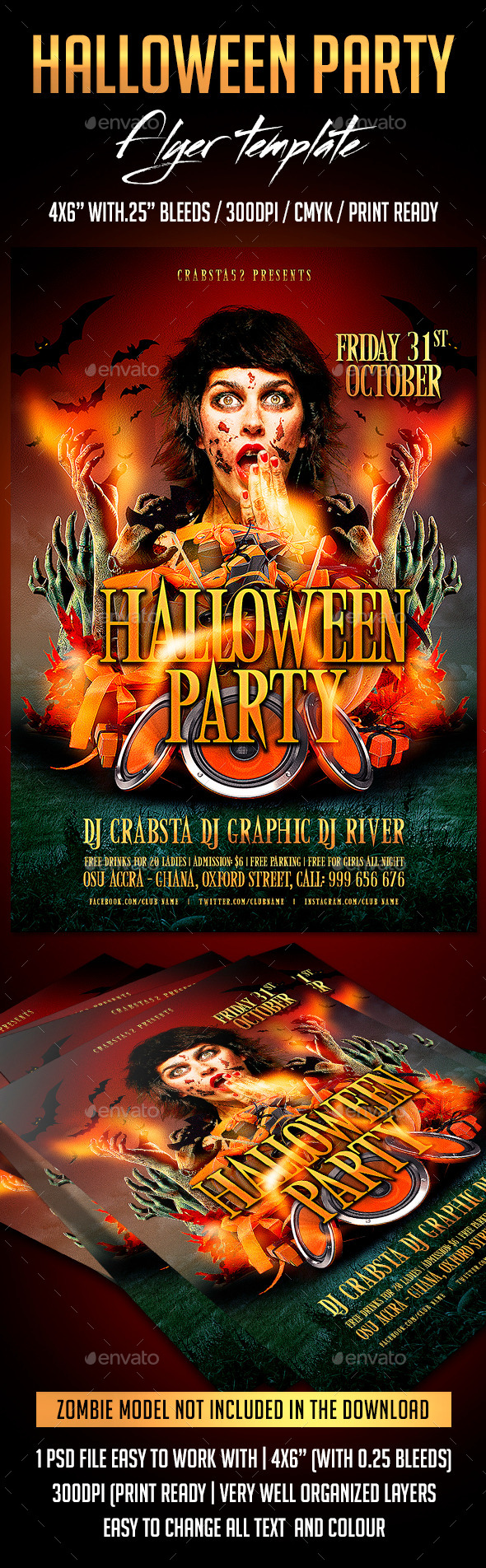 GraphicRiver Halloween Party Flyer Template 9068051