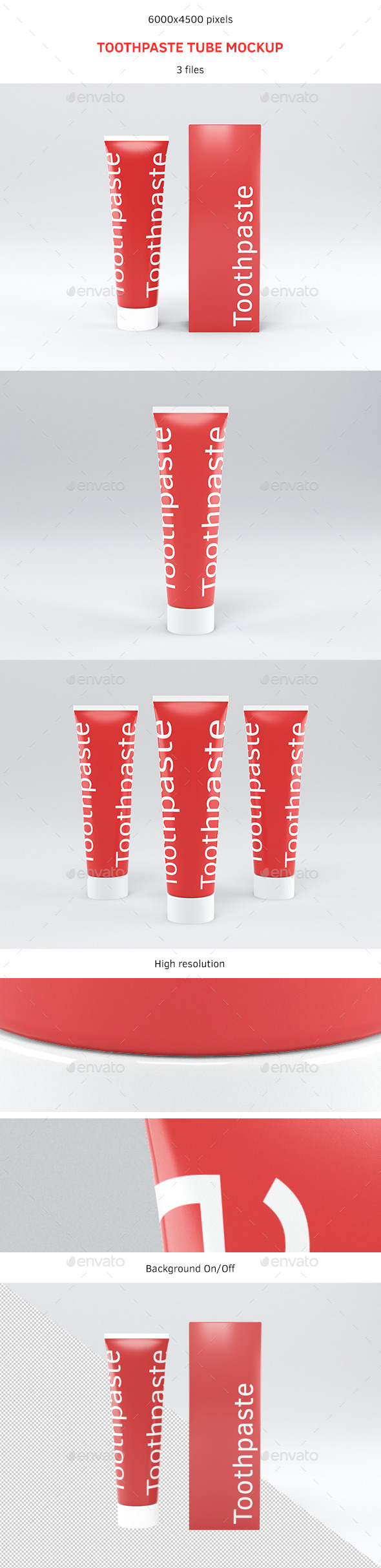 GraphicRiver Toothpaste Tube Mockup 9068094