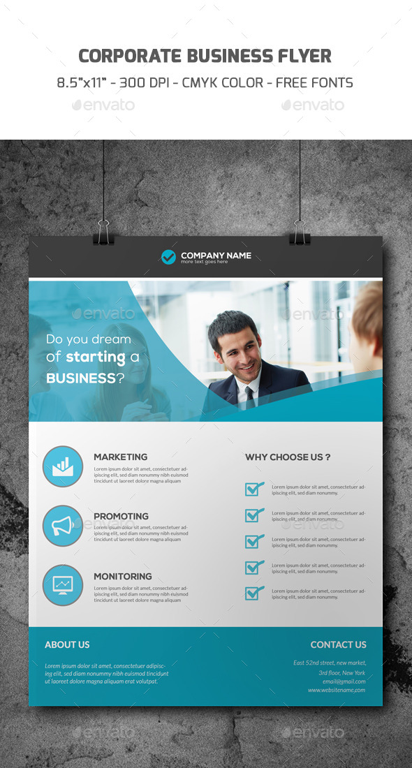 GraphicRiver Corporate Flyer Template 9068126