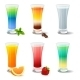 Different Cocktails and Juices on White - GraphicRiver Item for Sale